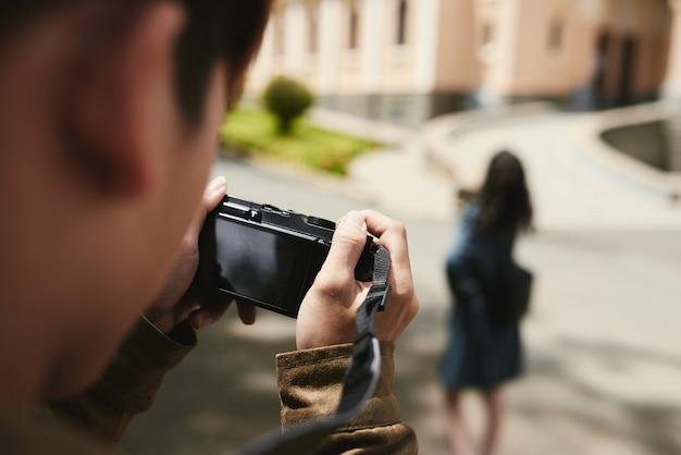 Anfänger fotograf