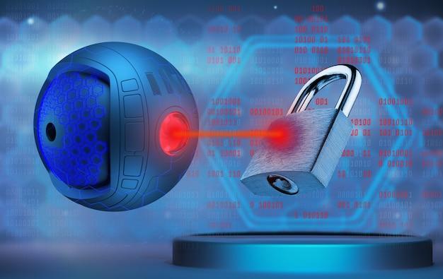 Angriff auf computersysteme. wahlen hacken. konzept eines hackerangriffs auf informations- und computersysteme. umgehung des schutzes von computersystemen. 3d gerendert