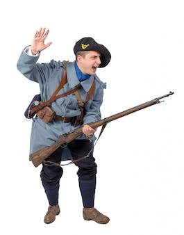 Angriff eines französischen soldaten
