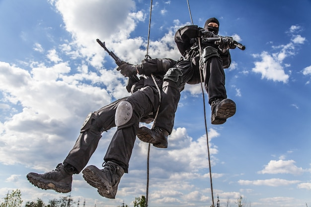 Angriff rappeling