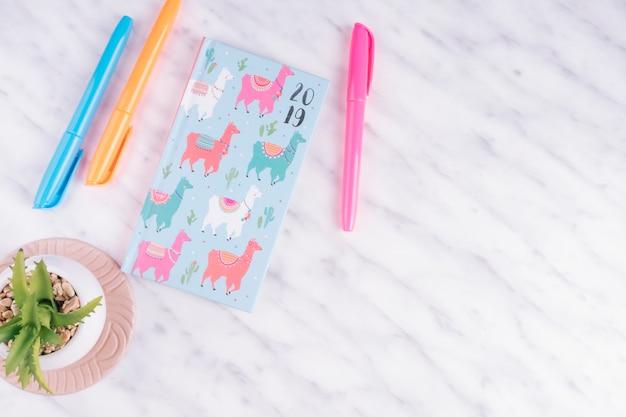 Anlage und notebook mit exemplar