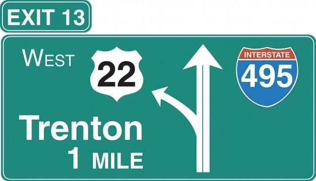 Anmeldung, ausfahrt interstate highway linke symbol