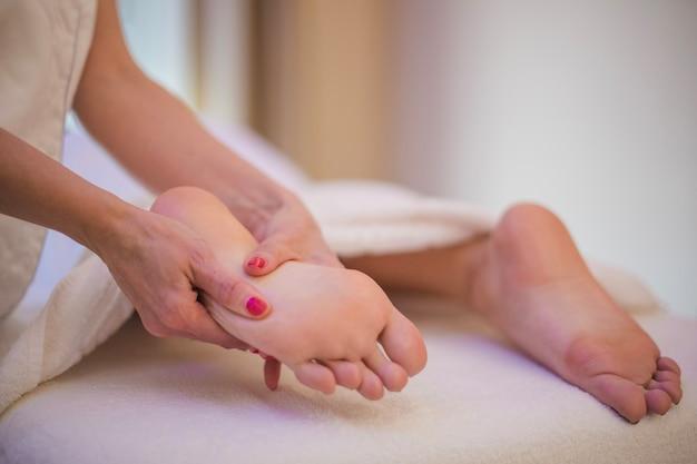 Anonymer masseur und klient