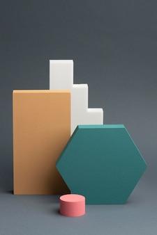 Anordnung der abstrakten 3d-designelemente