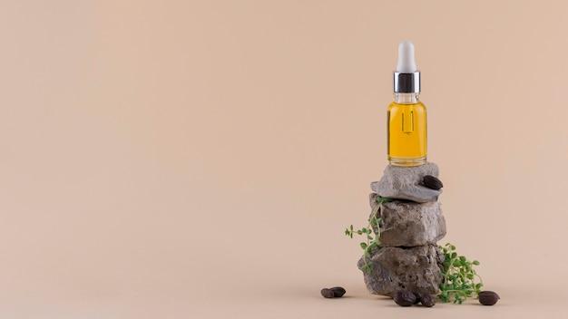 Anordnung der jojobaöl-tropfer