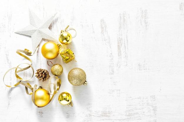 Anordnung für klassische weihnachtsdekorationen
