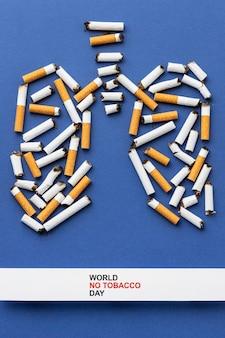 Anordnung ohne tabak tag elemente
