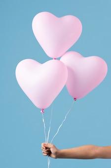 Anordnung verschiedener festlicher ballons