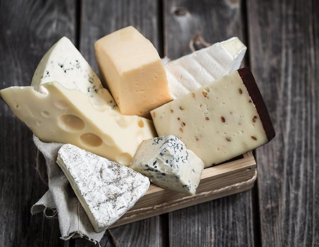Anordnung von gourmet-käse