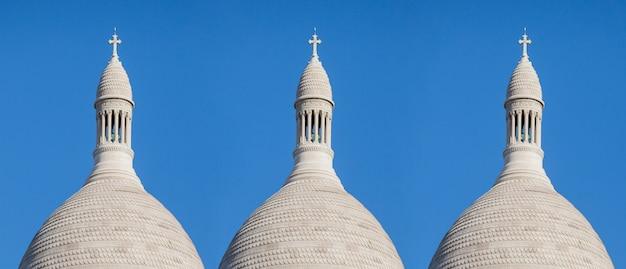 Ansicht am boden der basilika des heiligen herzens von paris, frankreich