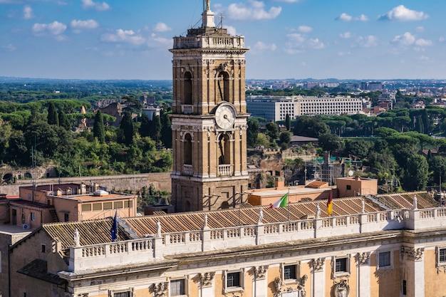 Ansicht bei palazzo senatorio in rom, italien