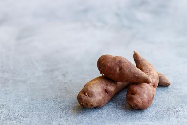 Ansicht der einheimischen peruanischen kartoffeln