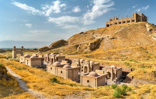 Ansicht der hisor-festung in tadschikistan, zentralasien