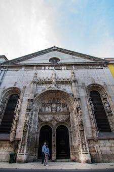 Ansicht der kirche von nossa senhora da conceicao velha, gelegen in lissabon, portugal.
