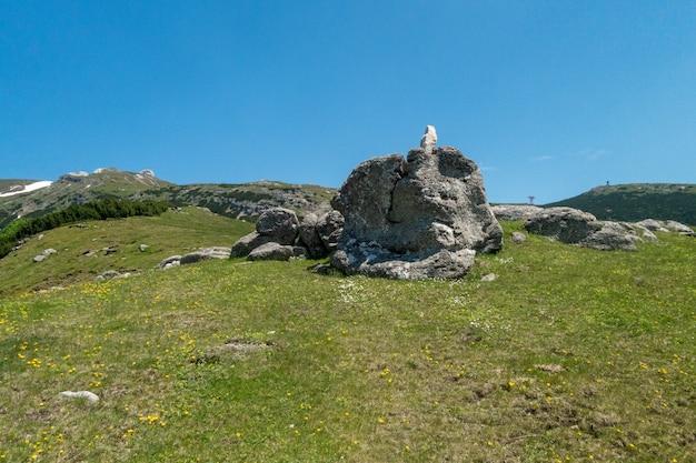 Ansicht der kleinen sphinxes, in den karpatenbergen, bucegi-naturpark, rumänien