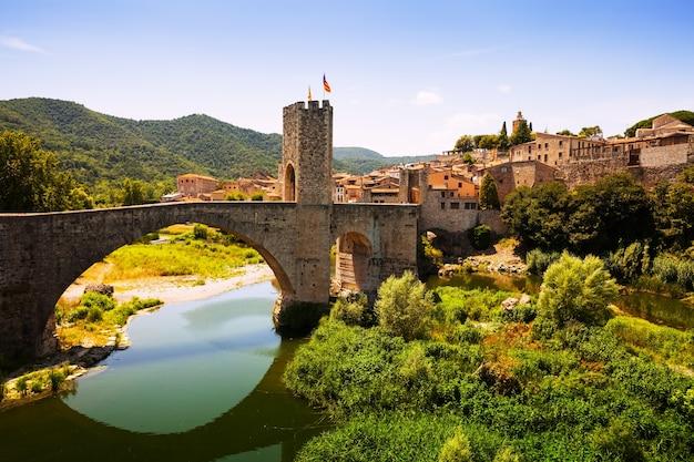 Ansicht der mittelalterlichen stadt