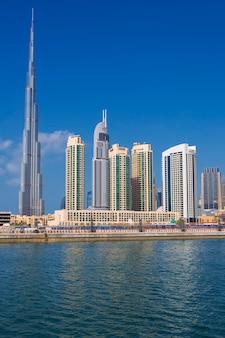 Ansicht der skyline von dubai, vereinigte arabische emirate.