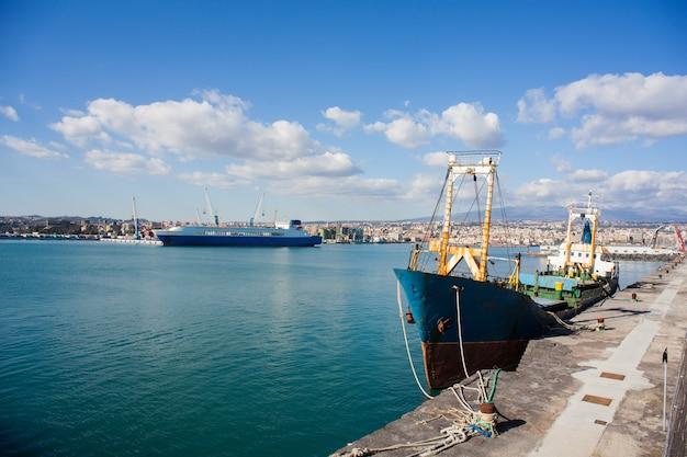 Ansicht des alten fischerbootes