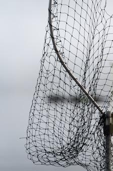 Ansicht des fischernetzes, regionaler bezirk skeena-königin-charlotte, haida gwaii, graham island, britisches c