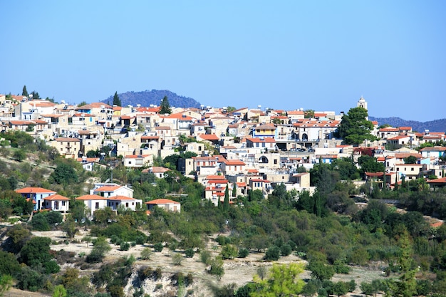 Ansicht des lefkara-dorfs, zypern