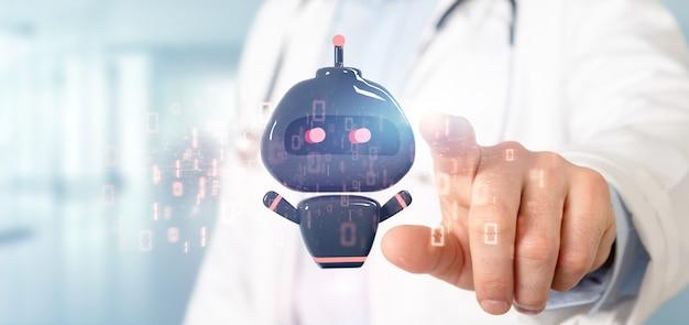 Ansicht des mini-bot-hologramms