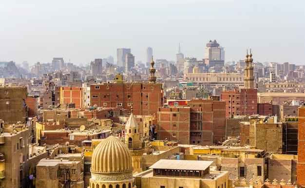 Ansicht des stadtzentrums von kairo ägypten