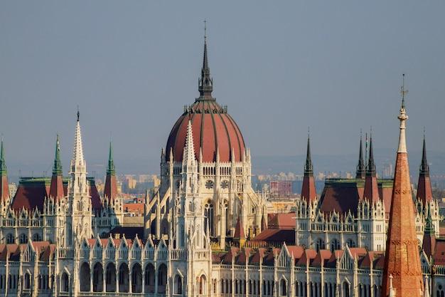 Ansicht des ungarischen parlamentsgebäudes, budapest, ungarn