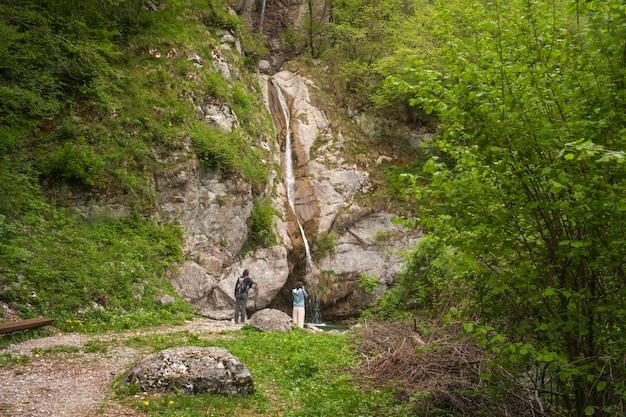 Ansicht des wasserfalls, slowenien