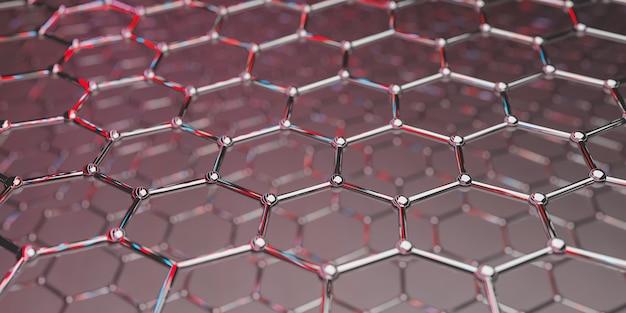 Ansicht einer molekularen nanotechnologiestruktur aus graphen