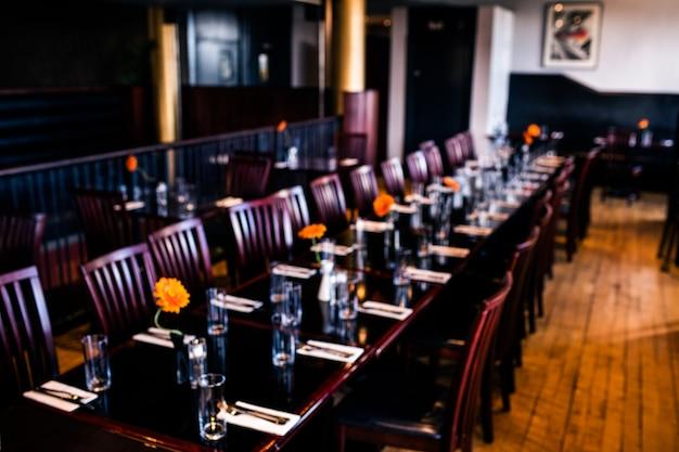 Ansicht eines restaurantinnenraums