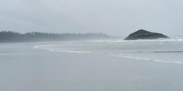 Ansicht eines strandes, long beach, pazifische rand-nationalpark-reserve, vancouver island, tofino, britisches co