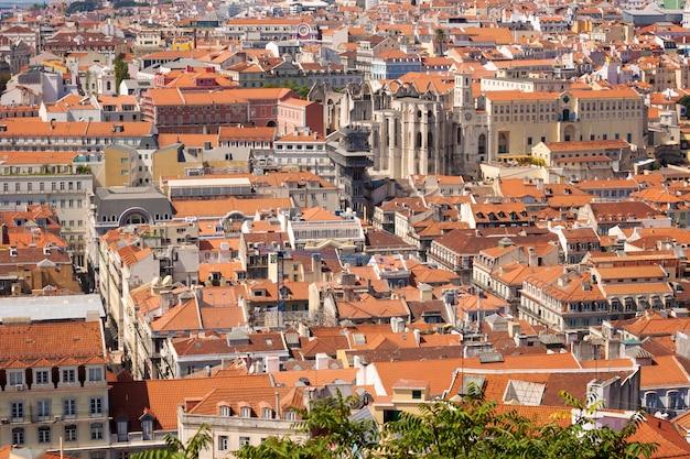 Ansicht über stadt lissabon, portugal