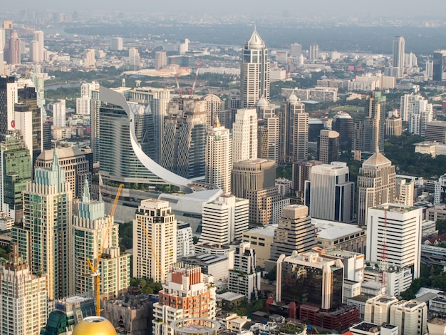 Ansicht vieler gebäude in bangkok