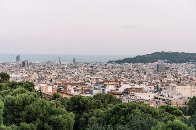 Ansicht von barcelona vom park guel, spanien