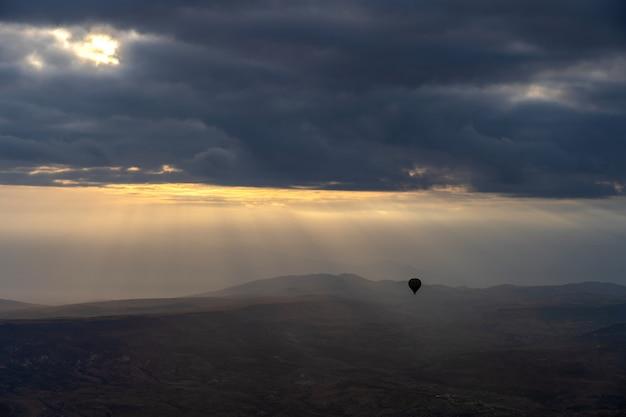 Ansicht von cappadocia-skylinen in der türkei