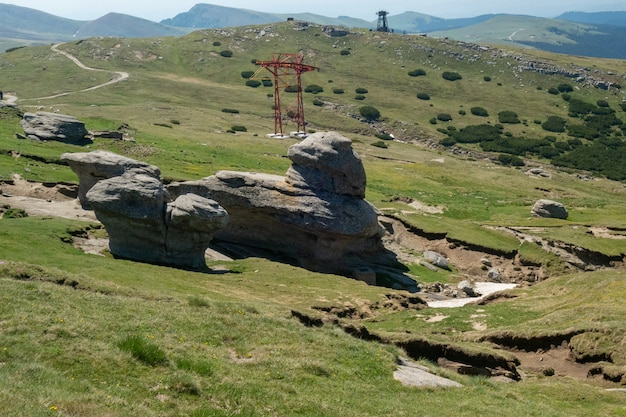 Ansicht von den bucegi bergen, rumänien, bucegi nationalpark