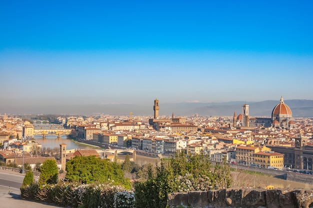 Ansicht von florenz von piazzale michelangelo, florenz, toskana, italien