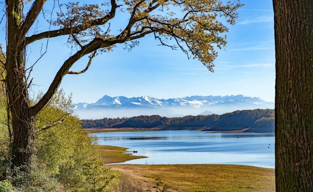 Ansicht von französischen pyrenäen-bergen