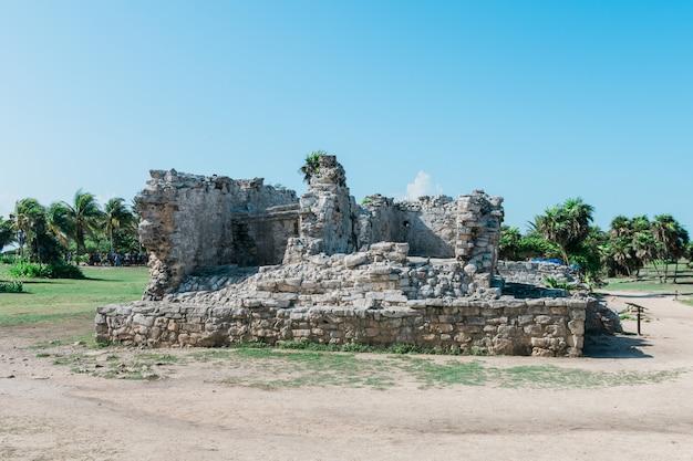 Ansicht von mayaruinen in mexiko