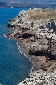 Ansicht von mesa pagadai santorini, griechenland.