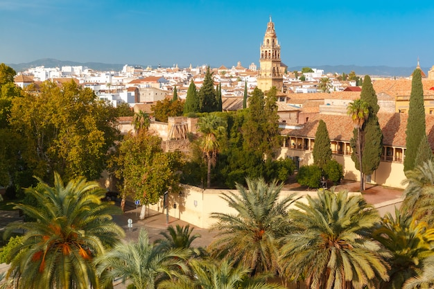 Ansicht von mezquita von alcazar in cordoba, spanien