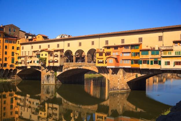 Ansicht von ponte vecchio in florenz