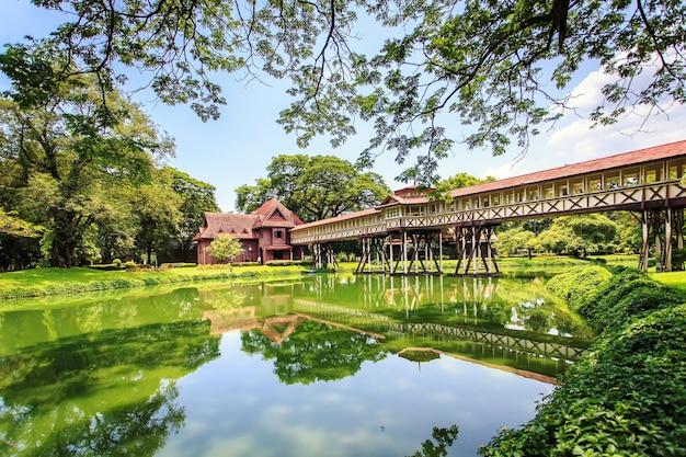 Ansicht von sanam chandra palace, in thailand