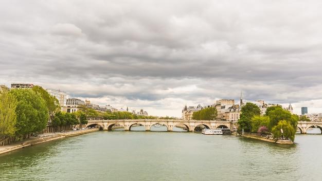 Ansicht von seine und von ile de la cite in paris