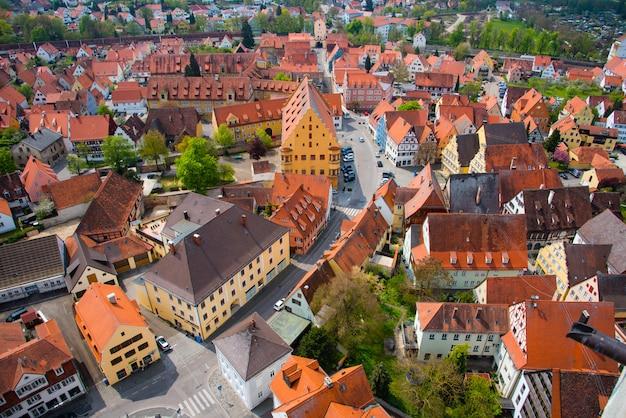 Ansicht von st. georgs church - nordlingen, deutschland