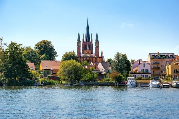 Ansicht von werder auf havel in brandenburg deutschland