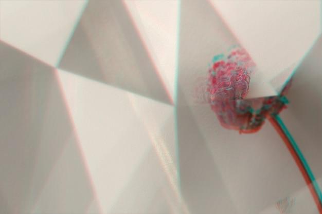 Anstract-hintergrund mit prismen-prismen-linseneffekt
