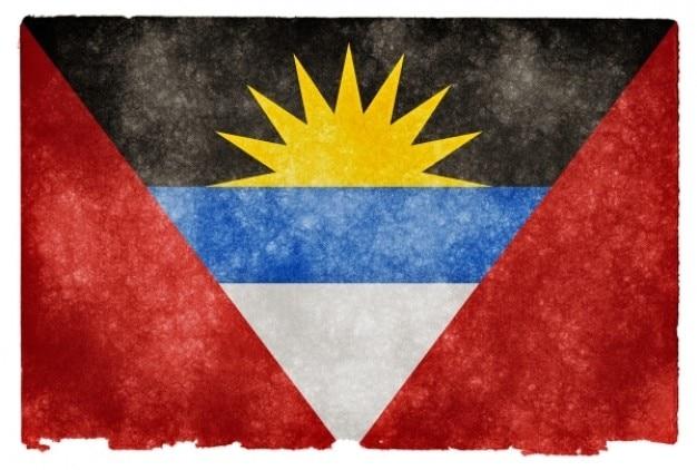 Antigua und barbuda grunge flag