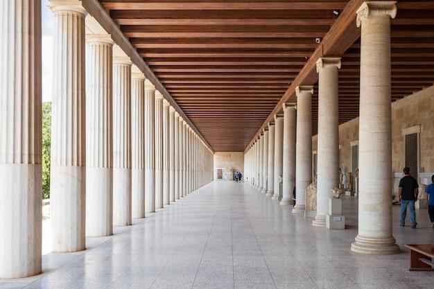 Antike agora in athen