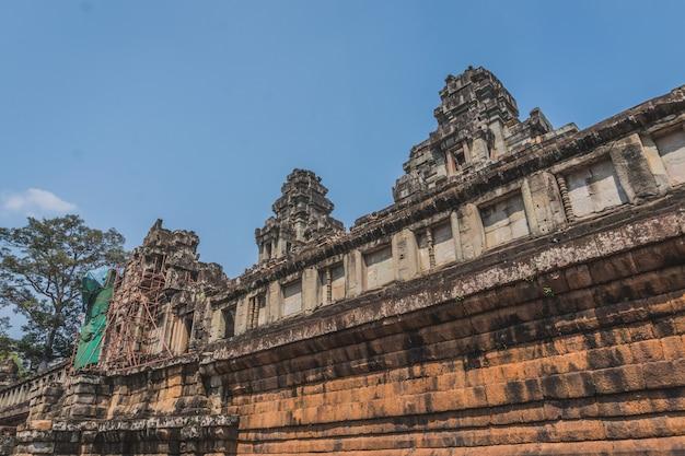 Antike angkor wat ruinen panorama siem reap kambodscha